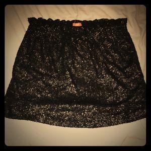 Joe Fresh Black Sequin Skirt